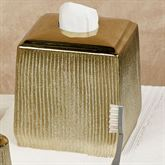 Hammered Tissue Cover Gold