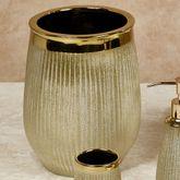 Hammered Wastebasket Gold