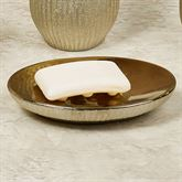 Hammered Soap Dish Gold