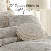 Brighton Ball Tassel Pillow Light Taupe 20 Square
