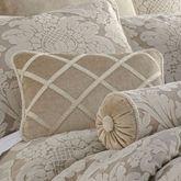 Brighton Velvet Pillow Almond Rectangle