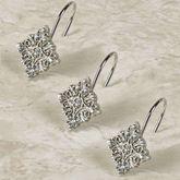 Opulent Shower Hooks Antique Silver 12 Piece Set