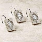 Casablanca Shower Hooks Silver Set of Twelve