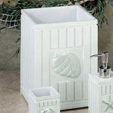 Seaside Wastebasket White