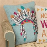 Headdress Rectangle Decorative Pillow Multi Cool 14 x 18