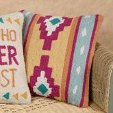 Kilim Decorative Pillow Multi Cool 16 Square