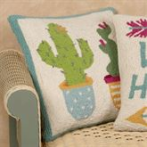 Potted Cacti Decorative Pillow Multi Cool 16 Square