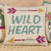 Wild Heart Decorative Pillow Multi Cool 16 Square
