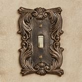 Fleur de Lis Single Switch Bronze/Gold
