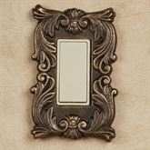 Fleur de Lis Single Dimmer Rocker Switch Bronze/Gold