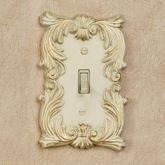 Fleur de Lis Single Switch Ivory/Gold