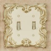 Fleur de Lis Double Switch Ivory/Gold