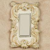 Fleur de Lis Single Dimmer Rocker Switch Ivory/Gold