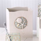 Sea Glass Wastebasket Aqua Mist