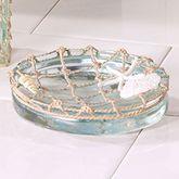 Sea Glass Soap Dish Aqua Mist