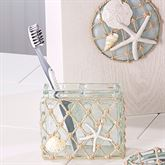 Sea Glass Toothbrush Holder Aqua Mist