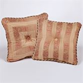 Chandon Tufted Square Pillow Champagne 18 Square