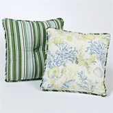 Ocean Treasures Tufted Square Pillow Blue 18 Square