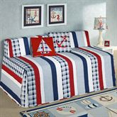Hatteras Stripe Hollywood Daybed Cover White Twin Daybed