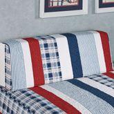 Hatteras Stripe Bolster Pillow with Sham White Wedge