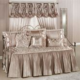 Marquis Flounce Daybed Set Champagne Daybed