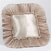 Marquis Ruffled Square Pillow Champagne 18 Square