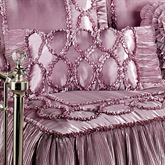 Marquis Ruffled Rectangle Pillow Orchid