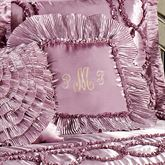 Marquis Ruffled Square Pillow Orchid 18 Square