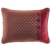 Shiraz Piped Rectangle Pillow Claret