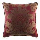 Shiraz Piped Square Pillow Claret 20 Square