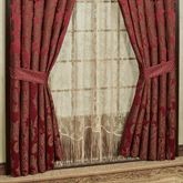 Shiraz Wide Tailored Curtain Pair Claret 100 x 84