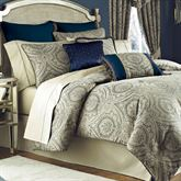 Hannah 4 pc Comforter Set Dark Blue