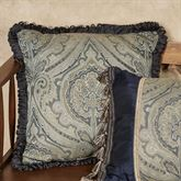 Hannah Fringed Square Pillow Dark Blue 18 Square