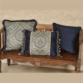 Hannah Piped Square Pillow Dark Blue 16 Square