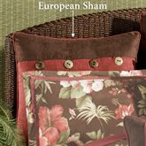 Cabana Piped European Sham Cocoa European