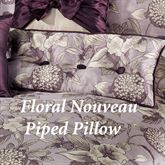 Floral Nouveau Floral Rectangle Pillow