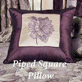Floral Nouveau Piped Square Pillow