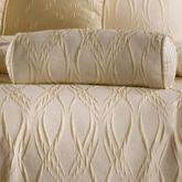 Sonoma Piped Neckroll Pillow Light Cream