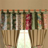 Antique Chic Tab Valance Multi Warm 84 x 21