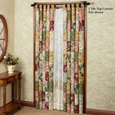 Antique Chic Tab Top Curtain Pair Multi Warm 84 x 84