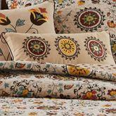 Andorra Embroidered Pillow Dark Beige Neckroll