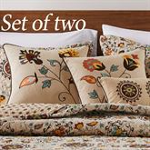 Andorra Pillows Dark Beige Set of Two