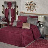 Camden Grande Fitted Bedspread Claret