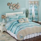 Seaview Quilt Set Light Blue