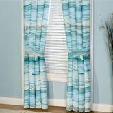 Seaview Tailored Curtain Pair Light Blue 84 x 84