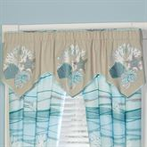 Seaview Embroidered Valance Sand 60 x 20