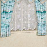 Seaview Short Tailored Curtain Pair Light Blue 84 x 63