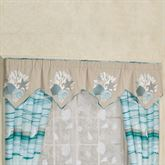 Seaview Wide Embroidered Valance Sand 80 x 20