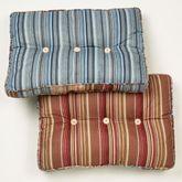 Katelin Reversible Tufted Pillow Blue Rectangle