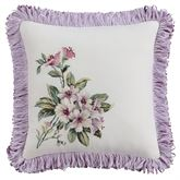 Palace Green Embroidered Pillow Ivory 14 Square